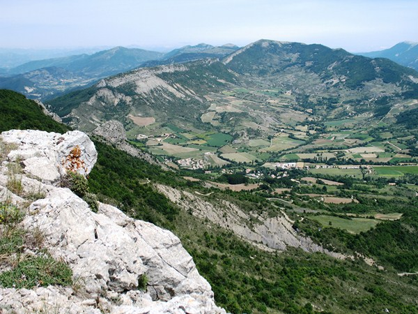 panoramic views in baronnies France walking holiday